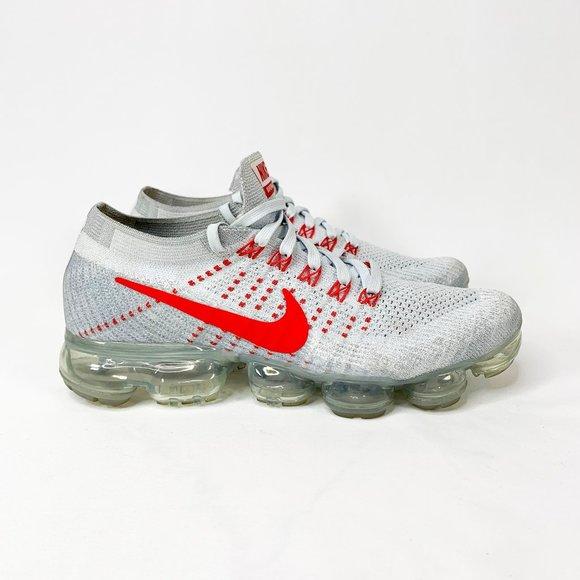 pereza Sanción invadir  Nike Shoes   Air Vapormax Pure Platinum University Red   Poshmark